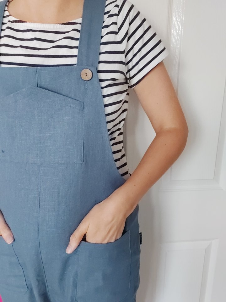 Yanta overalls in bio washed linen