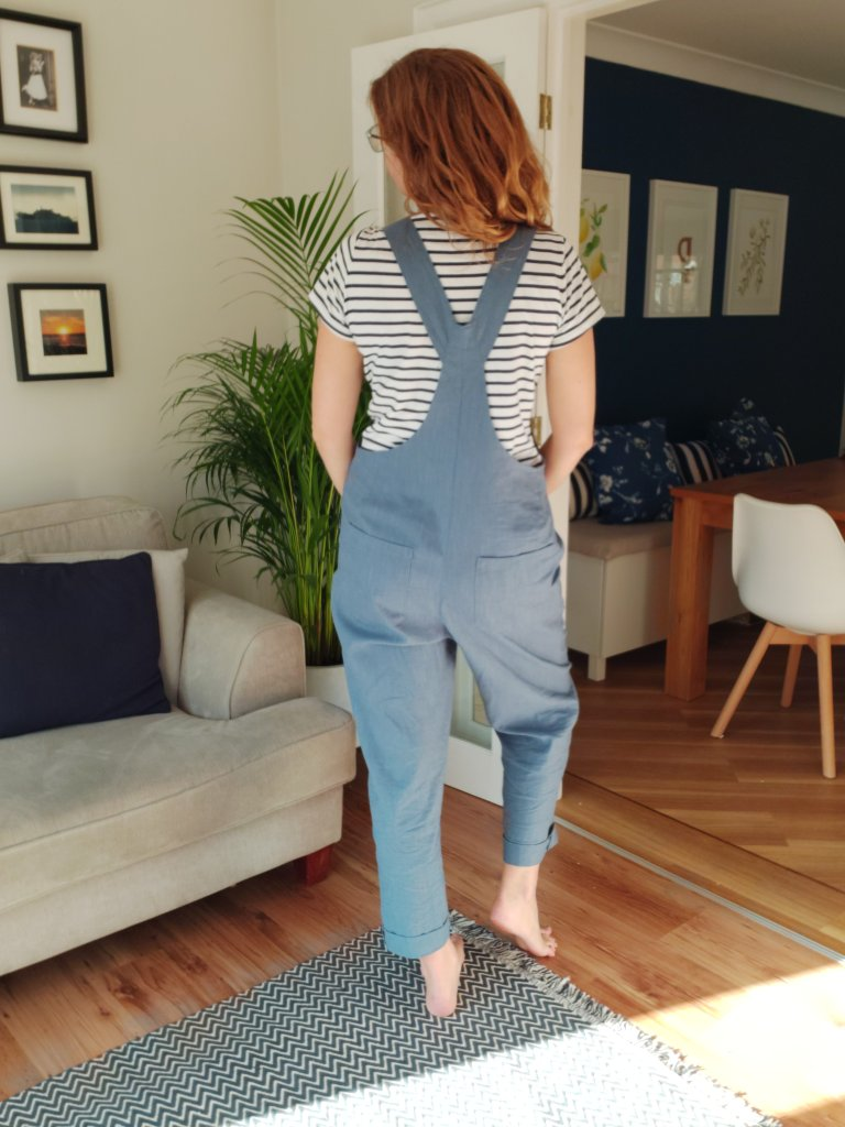 Back view of the Yanta overalls